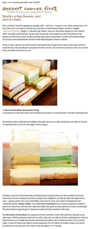Manila's 10 Best Desserts (Nov 2007)
