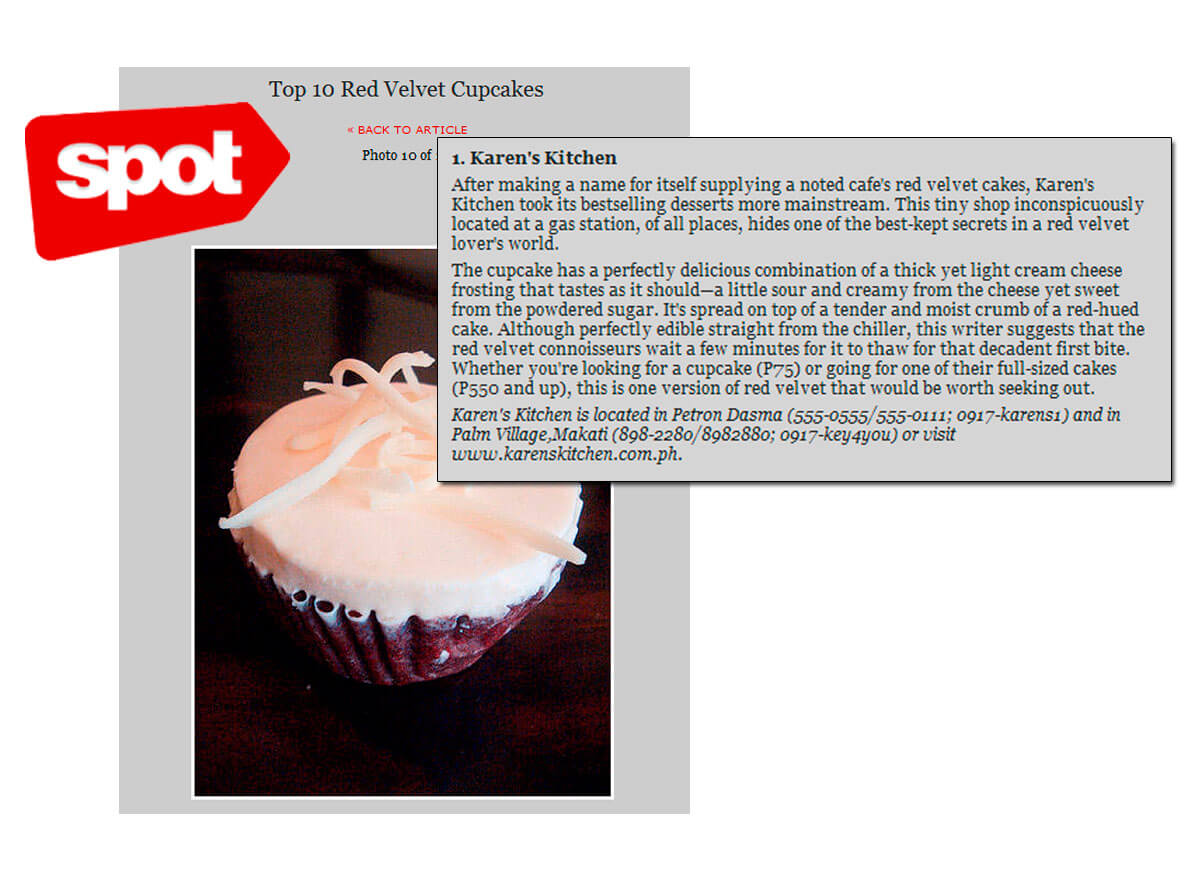 Top 10 Red Velvet Cupcakes (Aug 2012)