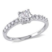 3/4 CT Diamond TW Engagement Ring 14KW