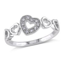0.03 CT Diamond TW Fashion Ring Silver