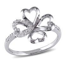 1/10 CT Diamond TW Fashion Ring Silver