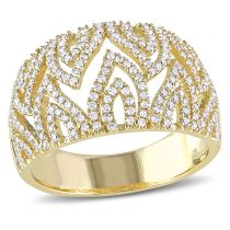 0.66 CT Diamond TW Fashion Ring 14KY