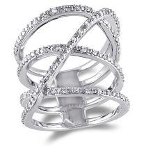1/5 CT Diamond TW Fashion Ring Silver