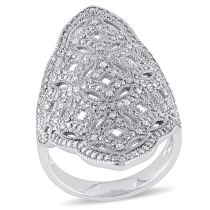 1/4 CT Diamond TW Fashion Ring Silver