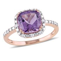 Amethyst And Diamond Fashion Ring 10KP