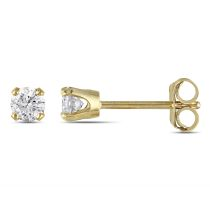 1/4ct TDW Diamond Solitaire Earrings 10KY