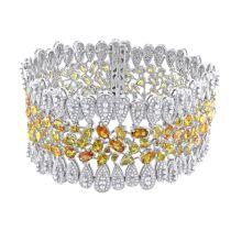 Diamond And Yellow Sapphire Bracelet 14KW