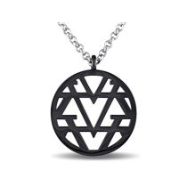 V19.69 Italia Openwork Necklace in Sterling Silver with Black Rhodium