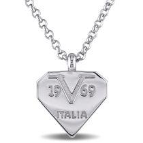V19.69 Italia Logomark Necklace In Sterling Silver