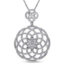 1 CT Diamond TW Fashion Pendant 14KW