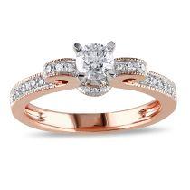 1/2 CT Diamond TW Ring 14KW 14KP