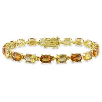 14 CT TGW Madeira Citrine Citrine Bracelet Yellow Silver Yellow Plated Length (inches): 7.25