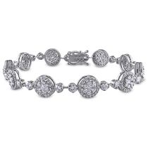 4 1/8 CT Diamond TW Bracelet 18KW