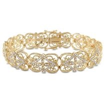 1 1/2 CT Diamond TW Bracelet 14KY