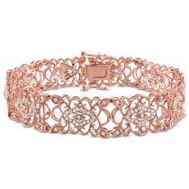 1 1/5 CT Diamond TW Bracelet 14KP
