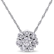 3/4 CT Diamond TW Solitaire Pendant 10KW