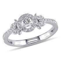 3/8ct TDW Engagement Ring 14KW