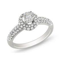 1 CT Diamond TW Engagement Ring 14KW