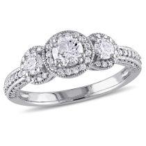 1 CT Diamond TW Ring 10KW
