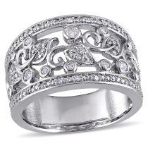 1/4 CT Diamond Fashion Ring Silver