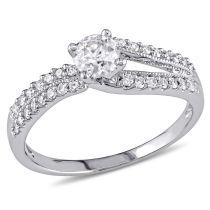 5/8 CT Diamond Engagement Ring 14KW