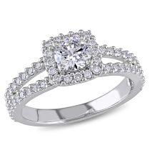 1 CT Diamond Ring 14KW IGL Cert