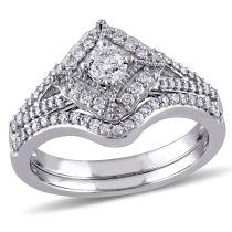 Laura Ashley 5/8 CT TW Diamond Ring in 10k White Gold
