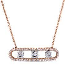 18KM 1/5 CT Diamond Necklace