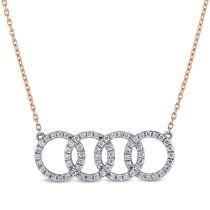 18KM 1/3 CT Diamond Necklace