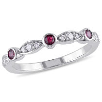 Diamond And Ruby Fashion Ring 10KW