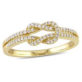 0.16 CT Diamond TW Fashion Ring 14KY