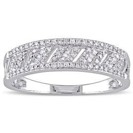 0.268 CT Diamond TW Fashion Ring 14KW