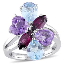 Julianna B MulTI-Color Gemstones Ring In 14KW