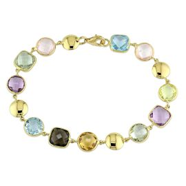 Multi-coloured GemstoneS Bracelet 18KY