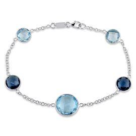 Blue Topaz Bracelet  18KW