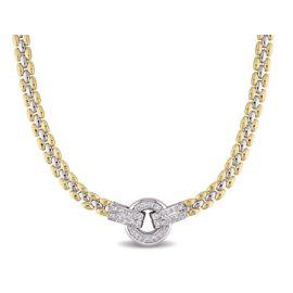 .50ct Diamond 18K Yellow & White Gold Necklace