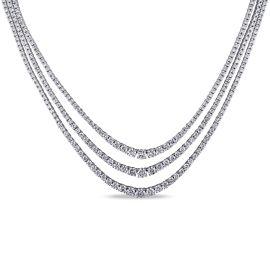 14 4/5 CT Diamond TW Necklace 18KW