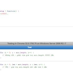 Hiệu năng các loại vòng lặp Javascript