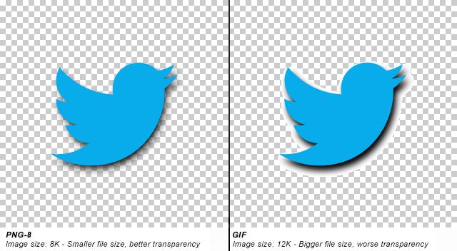 PNG-8 cho chất lượng ảnh và nền trong suốt tốt hơn GIF (Nguồn: StackOverflow)