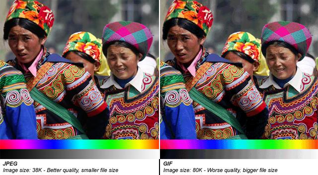 JPEG hiển thị tốt các ảnh đổ màu gradients (Nguồn: StackOverflow)