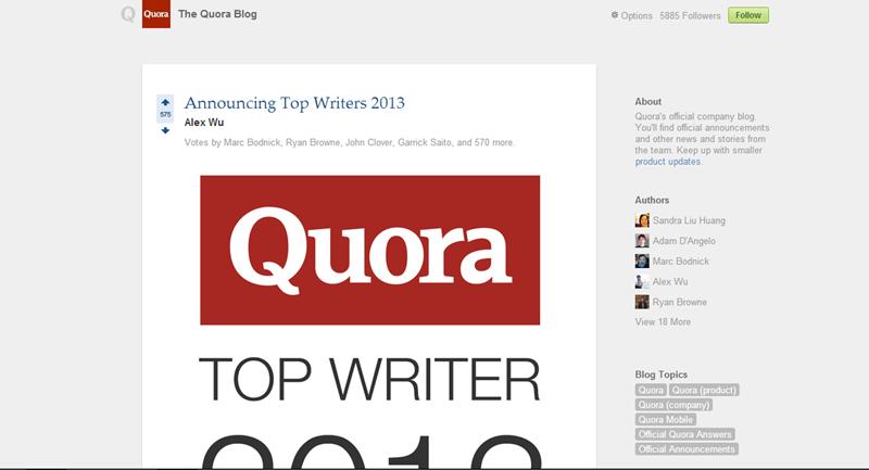 Quora Blog