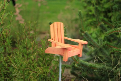 no big deal, just a tiny adirondack chair on a stick.