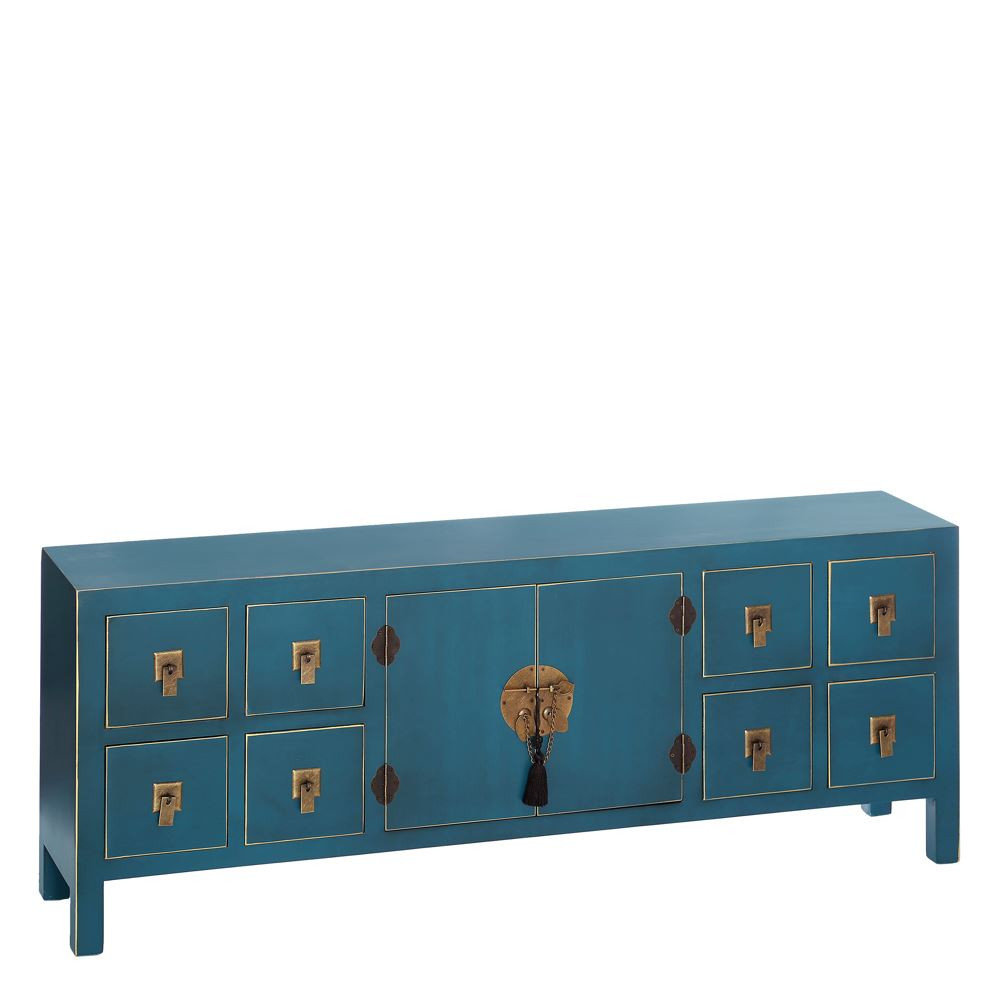 Comprar Mueble De Tv Azul Dm Oriental 130 00 X 24 00 X 50  # Muebles Kulunka