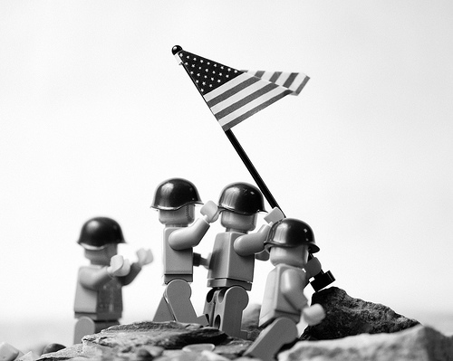 Raising the Flag on Iwo Jima, lego, лего