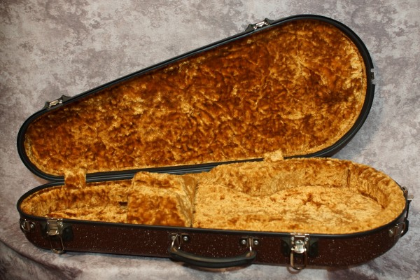 Calton Mandolin Case (Speckled Brown/Gold) (1)