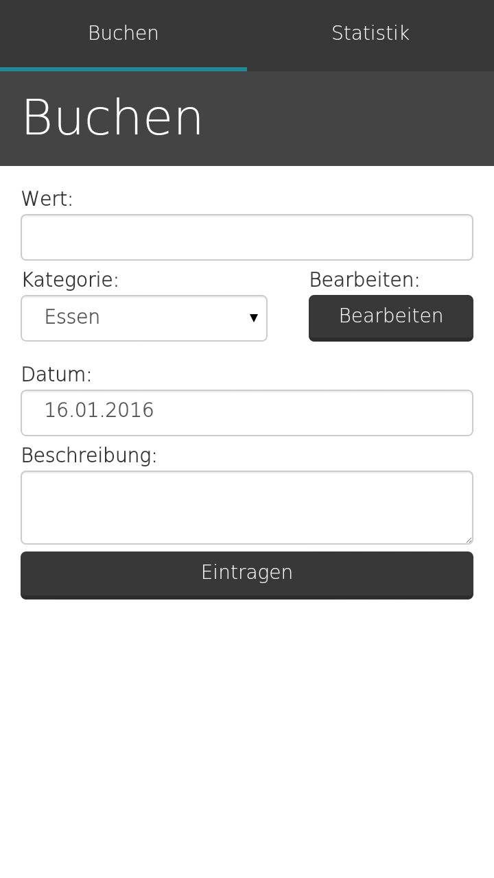 Start Screen | Finanzrechner App