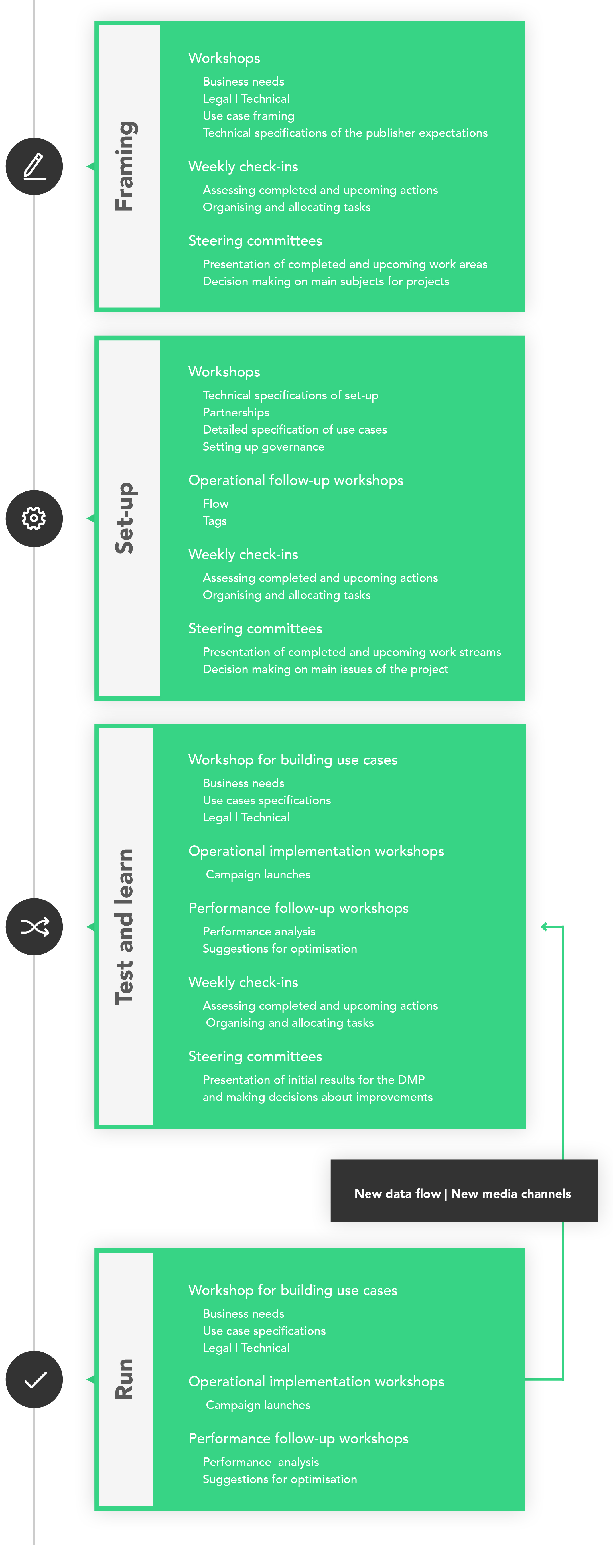 DMP phases infographics