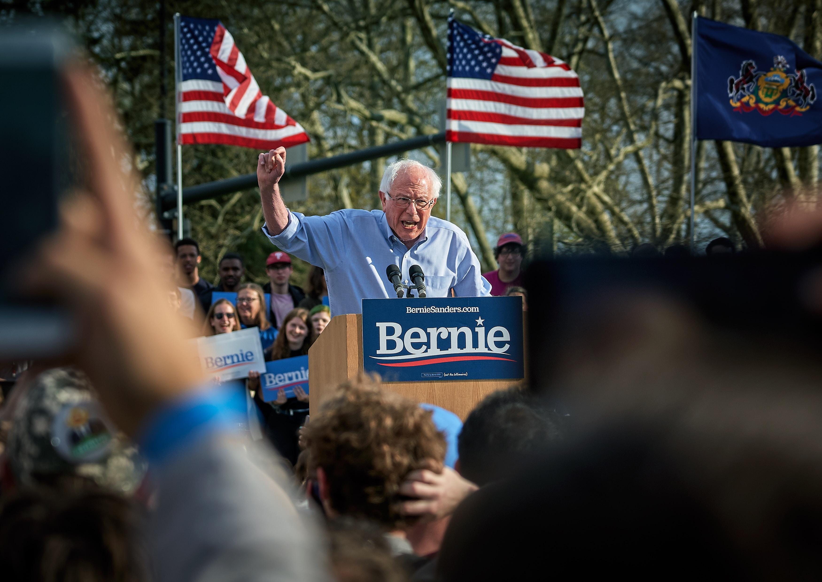Bernie Sanders giving a speech. Courtesy: Vidar Nordli-Mathisen on Unsplash