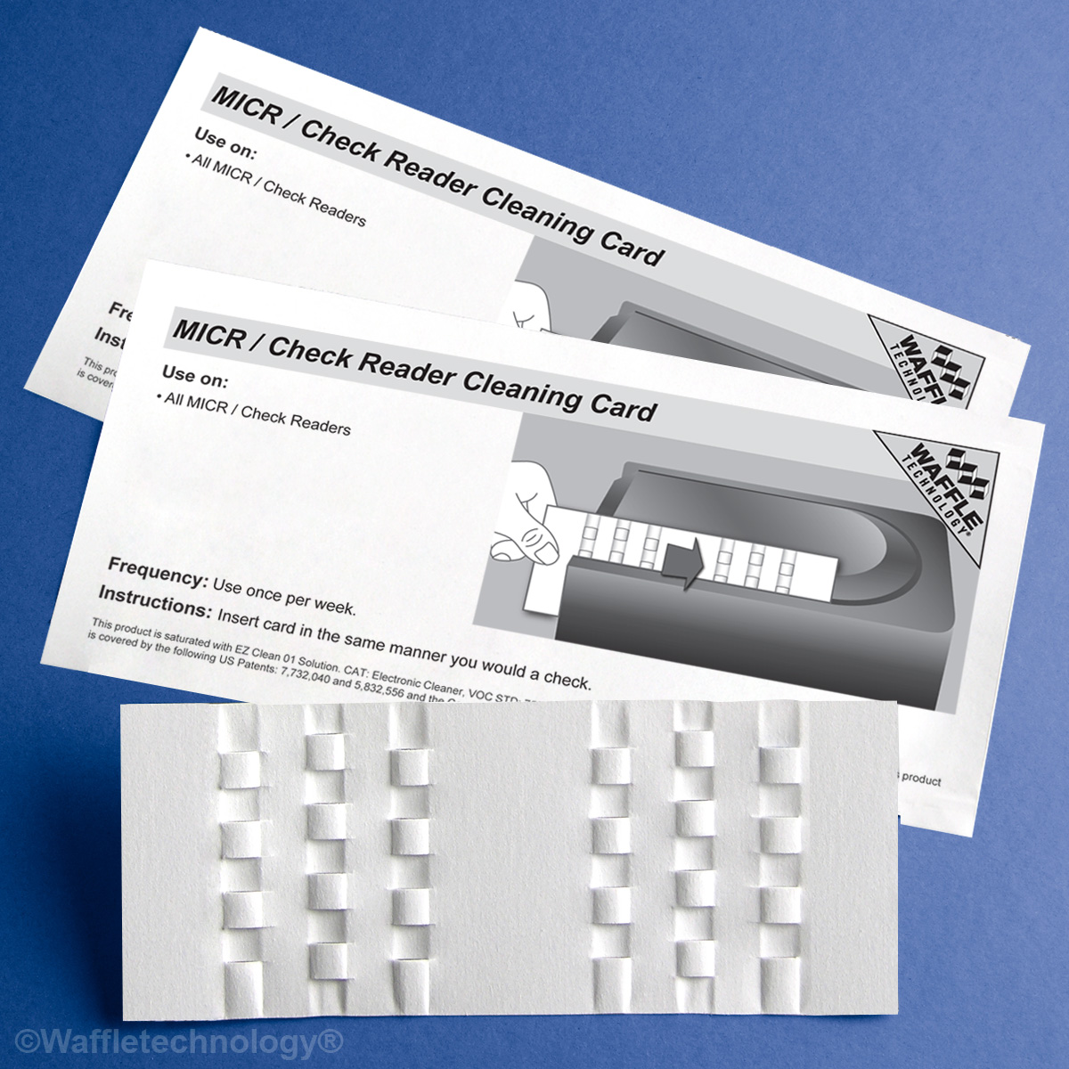 MICR/Check Reader Cleaning Card featuring Waffletechnology®