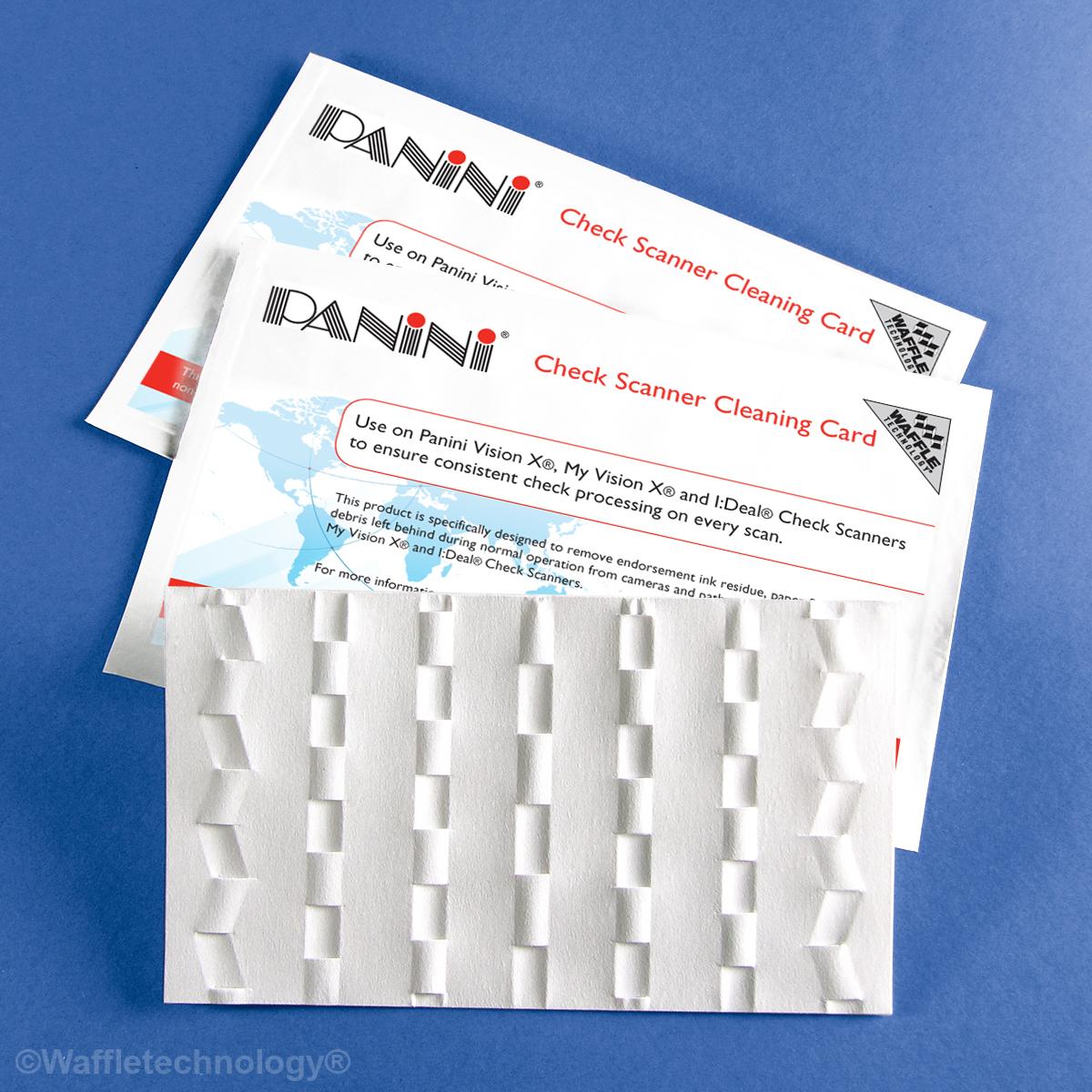 Panini escáner limpieza tarjeta con Waffletechnology ®
